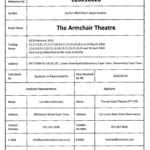 OCA Response on Armchair Theatre Temp Liquor license