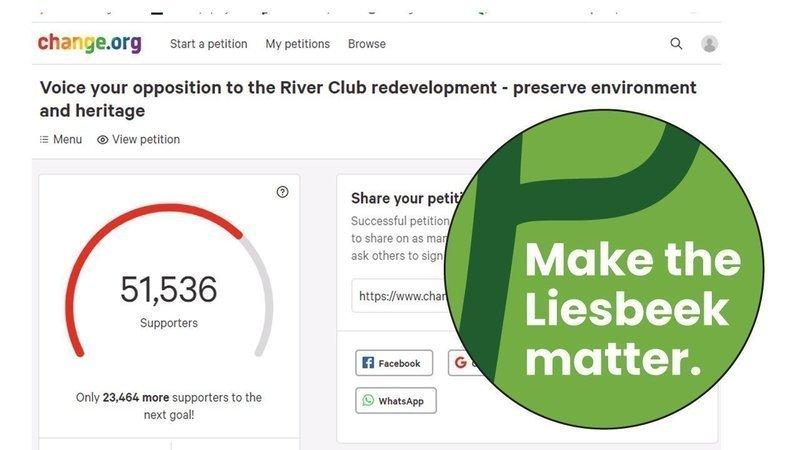 50000+ Voices Matter: Stop the River Club Development!